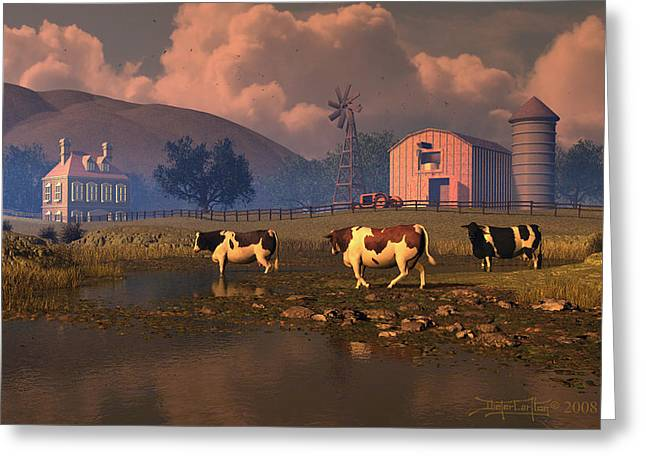 Give Us This Day Greeting Card by Dieter Carlton