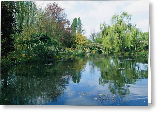 Giverny Gardens, Normandy Region Greeting Card by Nicole Duplaix