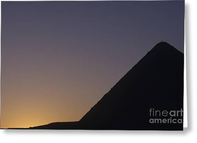 Giza Pyramid At Dusk Greeting Card by Adam Crowley