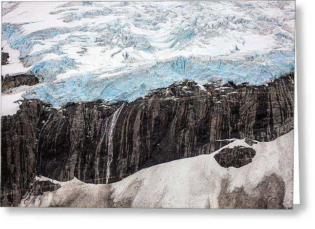 Glacial Edge Waterfall Greeting Card by Mike Reid