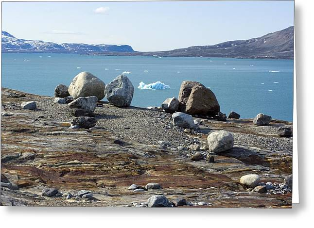 Glacial Erratics And Fjord Greeting Card by Dr Juerg Alean