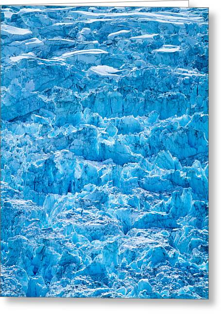 Glacial Layers Greeting Card by Adam Pender