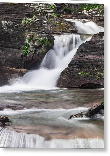 Glacial Waterfalls Greeting Card by Scotts Scapes