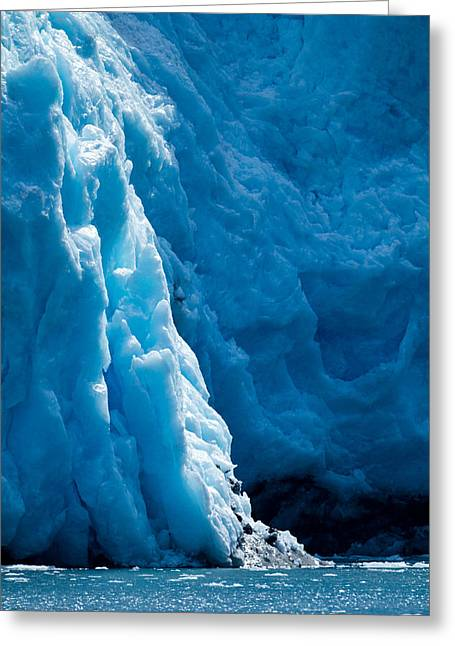 Glacier Blue Sapphire Greeting Card by Adam Pender