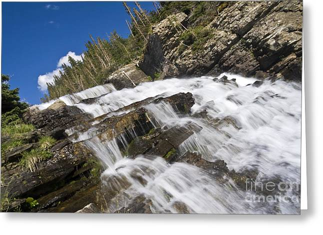 Glacier Falls Greeting Card by Scotts Scapes