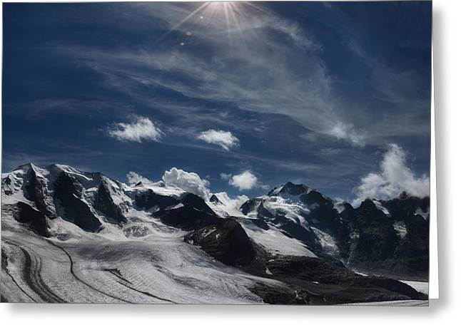 Glacier In Heaven Greeting Card by Bruno Santoro
