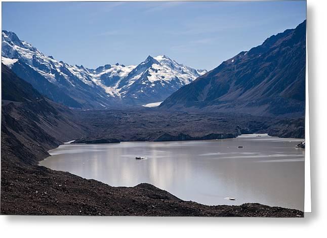 Glacier Lake Greeting Card by Graeme Knox