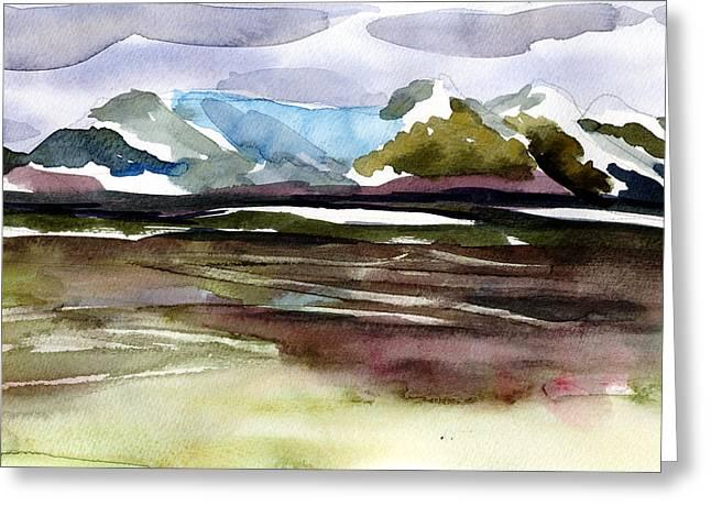 Glacier Near Juneau Greeting Card by Mindy Newman