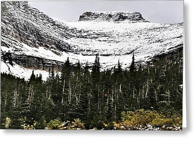 Glacier Park Bowlrock Greeting Card by Susan Kinney