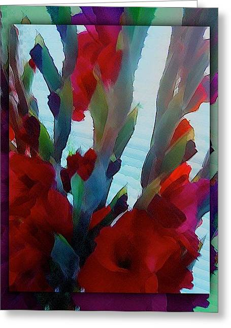 Greeting Card featuring the digital art Glad by Richard Laeton