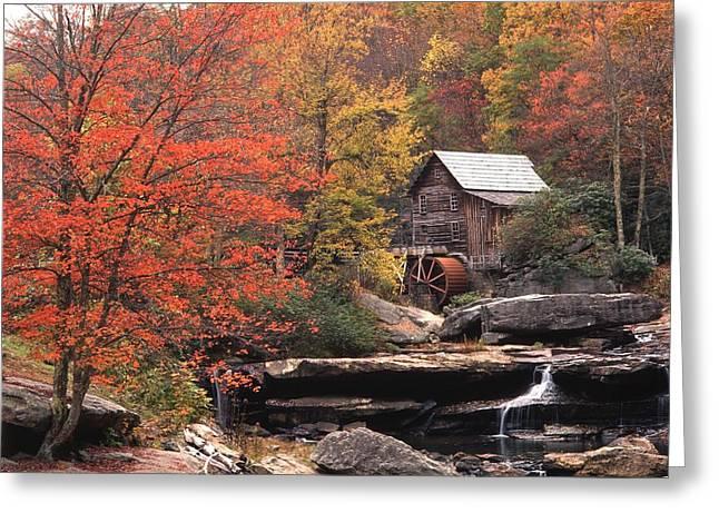 Glade Creek Grist Mill    Horizontal Greeting Card