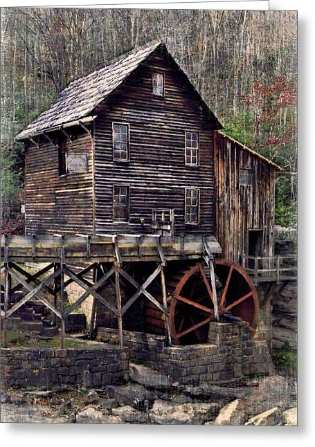 Glade Creek Grist Mill Series II Greeting Card by Kathy Jennings