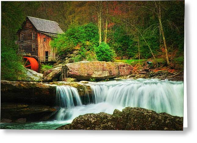 Glade Creek Mill 2 Greeting Card by Mary Timman