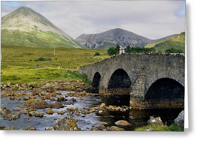 Glamaig And Sligachan Bridge Greeting Card