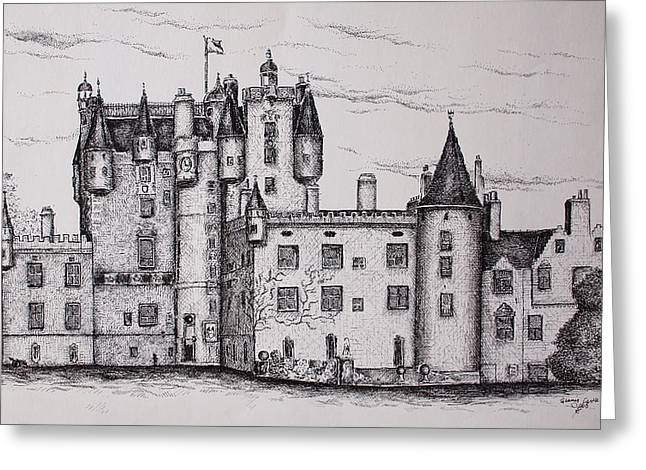 Glamis Castle Greeting Card by Sheep McTavish