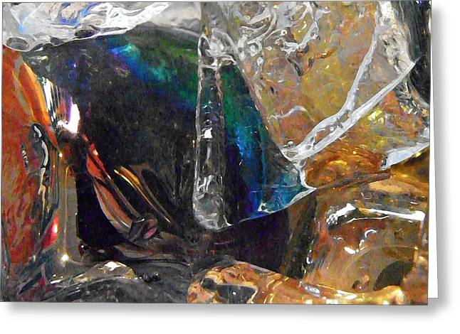 Glass And Ice Greeting Card by Sarah Loft