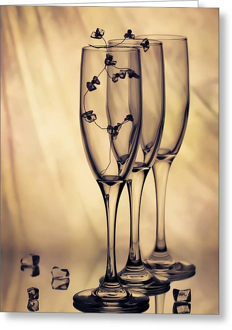 Greeting Card featuring the photograph Glass by Anna Rumiantseva