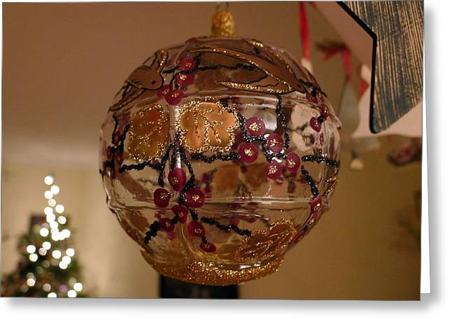 Glass Bauble Greeting Card by Richard Reeve