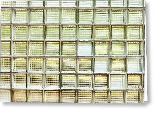 Glass Brick Wall Greeting Card