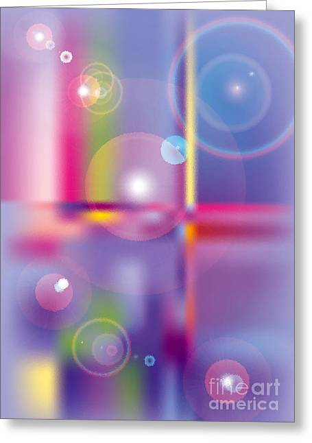 Glass Circles Greeting Card by Michelle Bergersen