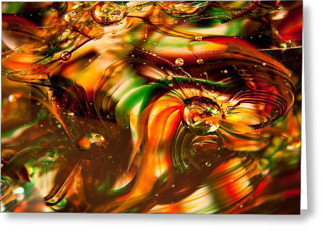 Glass Macro I Greeting Card by David Patterson