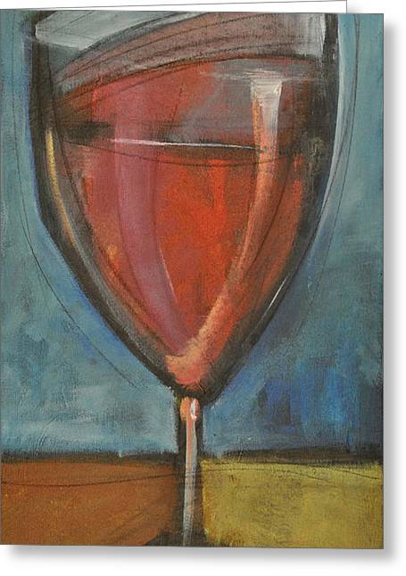 Glass Of Red Greeting Card by Tim Nyberg
