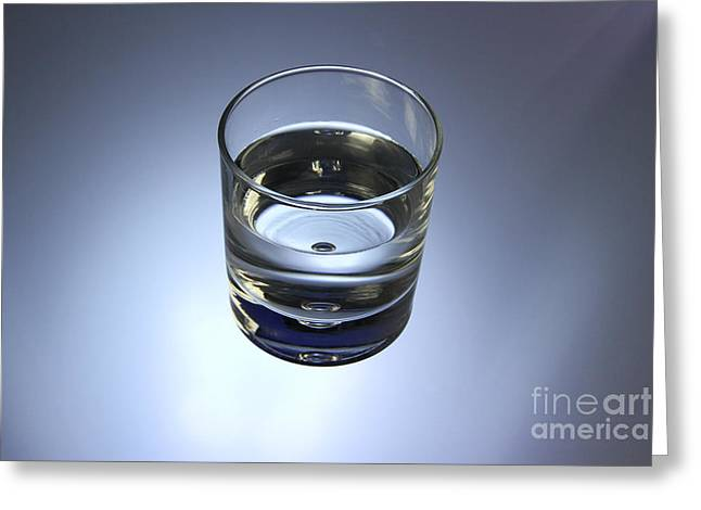 Glass Of Water Greeting Card by Photo Researchers