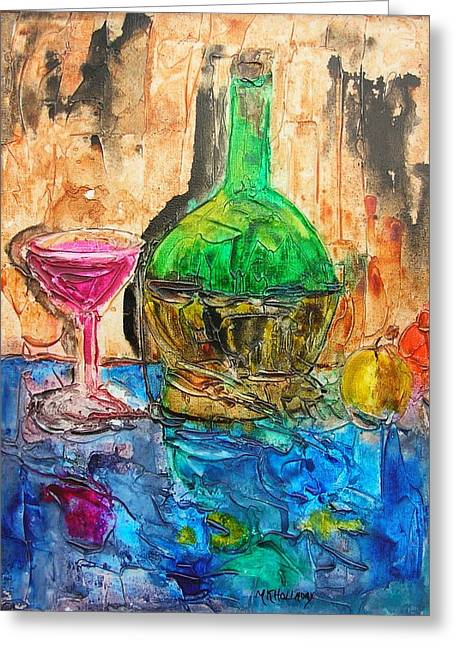 Greeting Card featuring the painting Glass Of Wine by Mary Kay Holladay