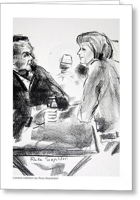 Glass Of Wine Greeting Card by Reza Sepahdari