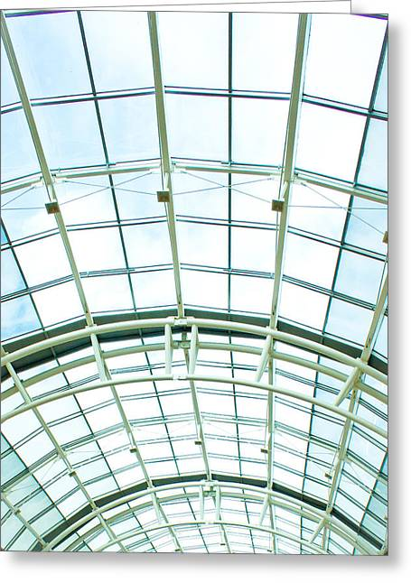 Glass Roof Greeting Card by Tom Gowanlock
