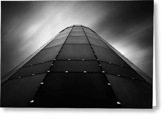 Glass Tower Greeting Card by Dave Bowman