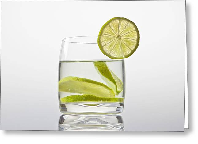 Glass With Lemonade Greeting Card by Joana Kruse