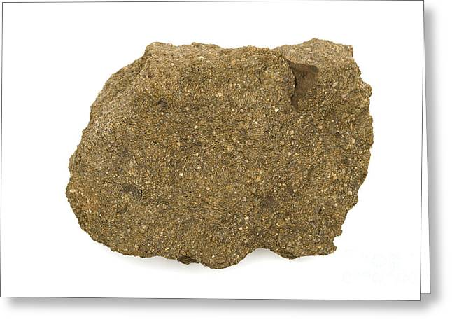 Glauconite Sandstone Greeting Card by Ted Kinsman