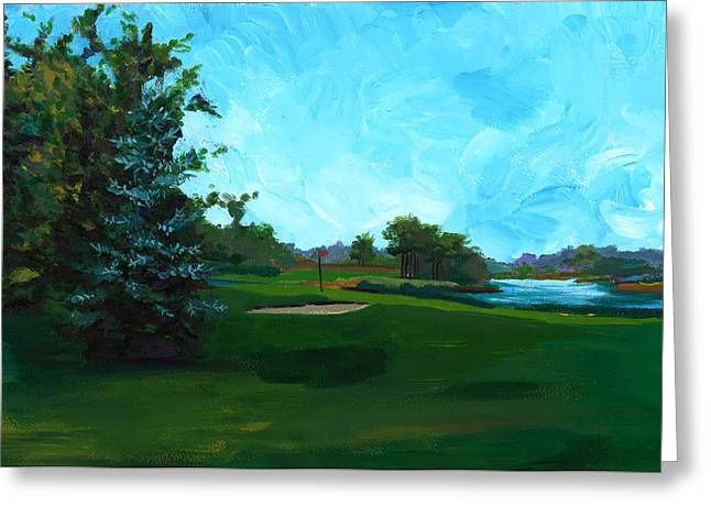 Glen Eagle Golf Course Greeting Card