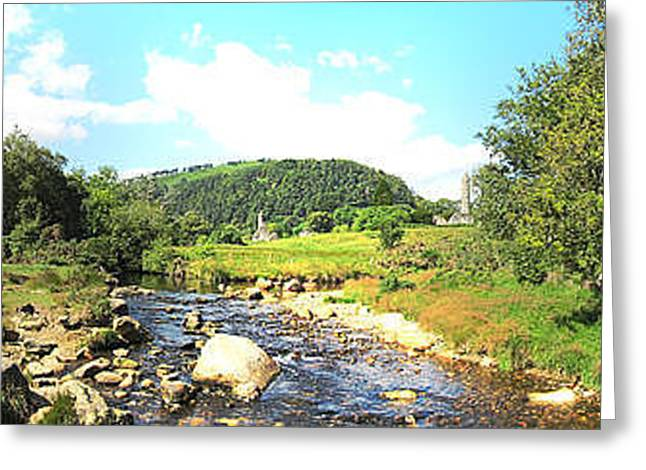 Glendalough Panorama Greeting Card