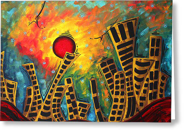 Glimmer Of Hope By Madart Greeting Card by Megan Duncanson