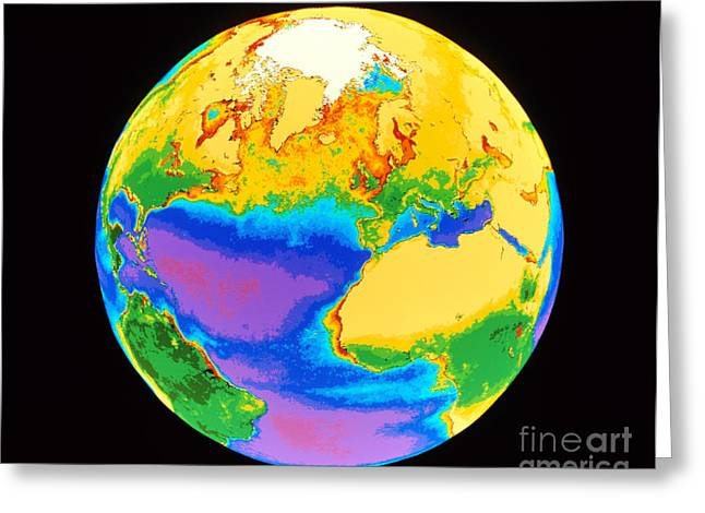 Global Biosphere, Northern Hemisphere Greeting Card