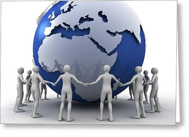 Global Communication Greeting Card