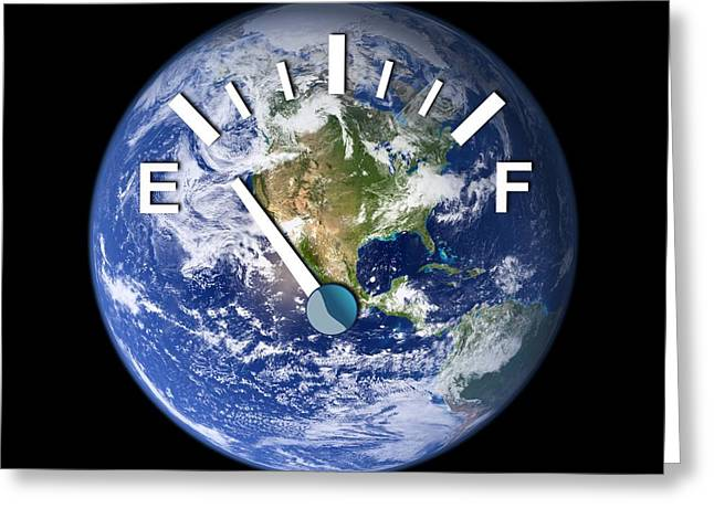 Global Energy Resources, Conceptual Image Greeting Card by Victor De Schwanberg