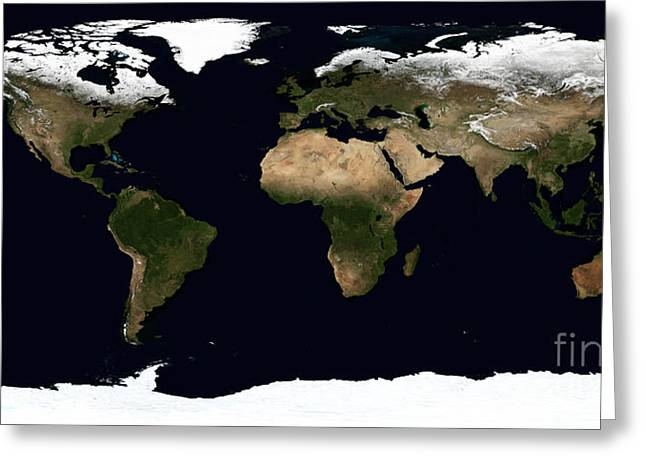 Global Image Of Our World Greeting Card by Stocktrek Images