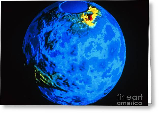 Global Topographic Map Of Venus Greeting Card by NASA / Science Source