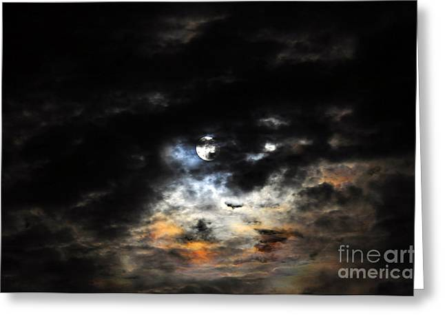 Glorious Gibbous - Wide Version Greeting Card by Al Powell Photography USA