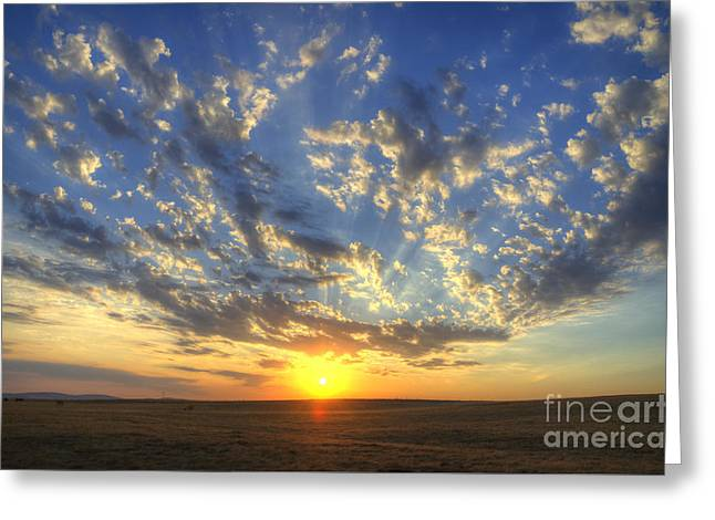 Glorious Sunrise Greeting Card by Jim and Emily Bush