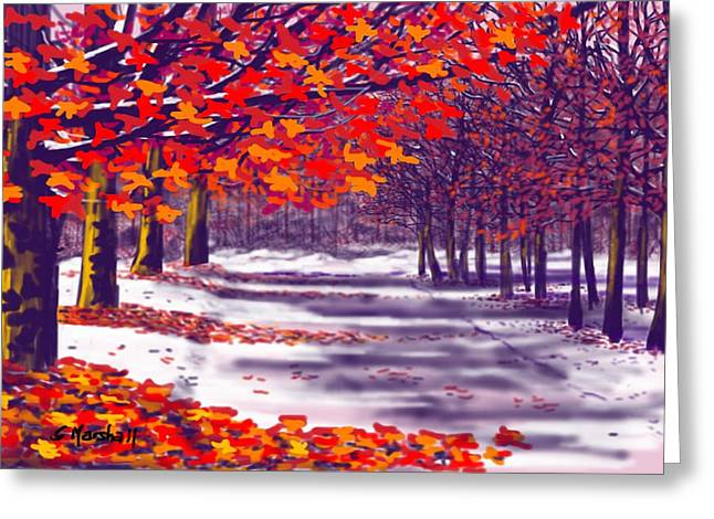 Glory Of Autumn Greeting Card