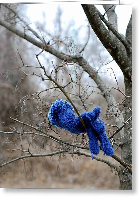 Glove Lost Greeting Card by Lisa Phillips
