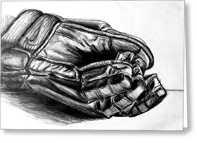 Gloves Greeting Card by Mike N