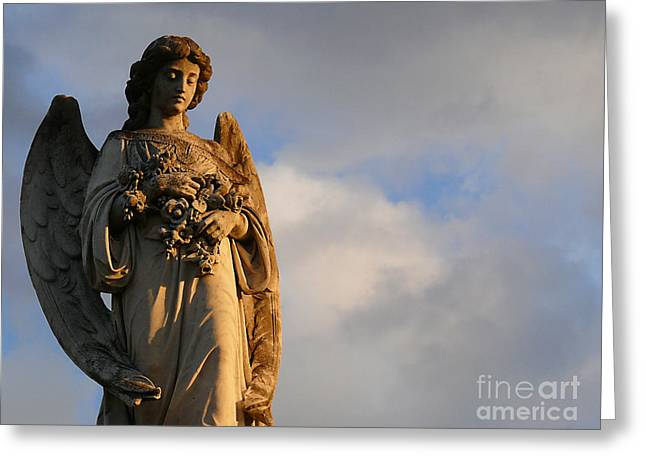 Greeting Card featuring the photograph Glowing Angel by Jeanne  Woods