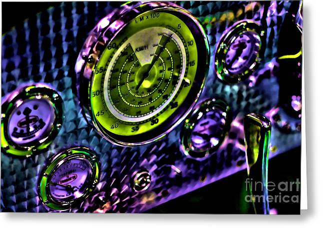 Glowing Gauges Greeting Card by Jason Abando