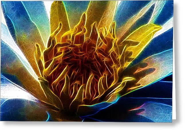 Glowing Lotus Greeting Card
