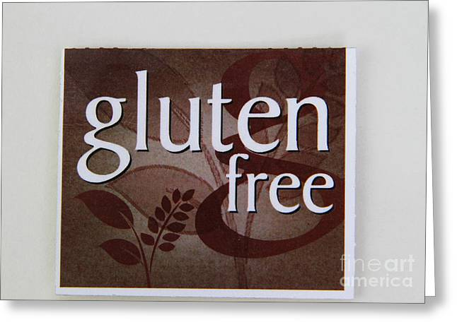 Gluten Free Greeting Card by Photo Researchers, Inc.